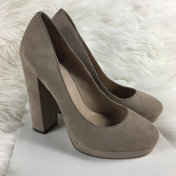 86d7fc1256 Mix No. 6 Shoes | Mix No 6 Adoviel Nude Suede Heel Size 8 | Poshmark